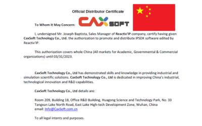 Reactiv'IP et Caxsoft Technology signent un contrat de distribution en Chine