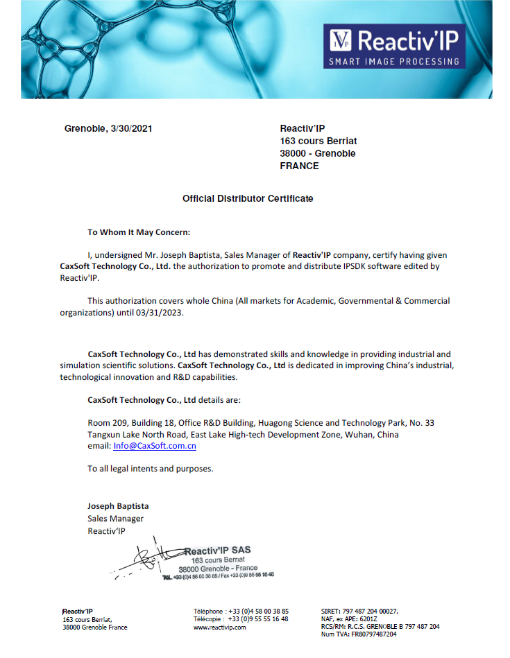 Caxsoft agreement