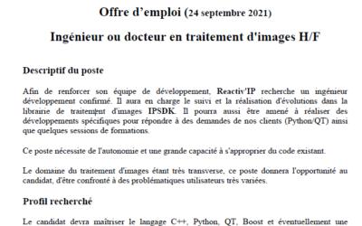 Image processing job offer